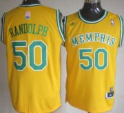 Wholesale Cheap Memphis Grizzlies #50 Zach Randolph ABA Hardwood Classic Swingman Yellow Jersey