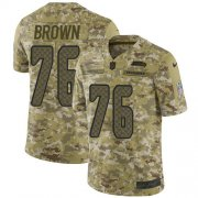 Wholesale Cheap Nike Seahawks #76 Duane Brown Camo Youth Stitched NFL Limited 2018 Salute to Service Jersey