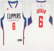 Wholesale Cheap Los Angeles Clippers #6 DeAndre Jordan Revolution 30 Swingman 2015 New White Jersey