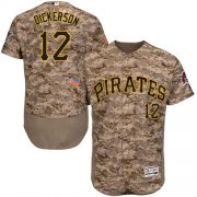 Wholesale Cheap Pirates #12 Corey Dickerson Camo Flexbase Authentic Collection Stitched MLB Jersey