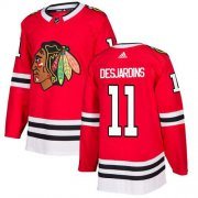 Wholesale Cheap Adidas Blackhawks #11 Andrew Desjardins Red Home Authentic Stitched NHL Jersey