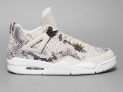 Wholesale Cheap Air Jordan 4 Premium Snakeskin Dark gray/white-cinnamon