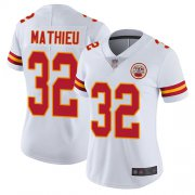 Wholesale Cheap Nike Chiefs #32 Tyrann Mathieu White Women's Stitched NFL Vapor Untouchable Limited Jersey