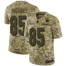 Wholesale Cheap Nike Bengals #85 Tee Higgins Camo Men\'s Stitched NFL Limited 2018 Salute To Service Jersey