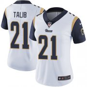 Wholesale Cheap Nike Rams #21 Aqib Talib White Women's Stitched NFL Vapor Untouchable Limited Jersey