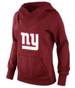 Wholesale Cheap Women's New York Giants Logo Pullover Hoodie Red-1