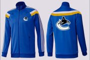 Wholesale Cheap NHL Vancouver Canucks Zip Jackets Blue-3