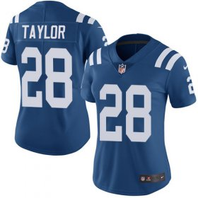 Wholesale Cheap Nike Colts #28 Jonathan Taylor Royal Blue Team Color Women\'s Stitched NFL Vapor Untouchable Limited Jersey