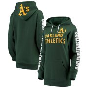 Wholesale Cheap Oakland Athletics G-III 4Her by Carl Banks Women's Extra Innings Pullover Hoodie Green