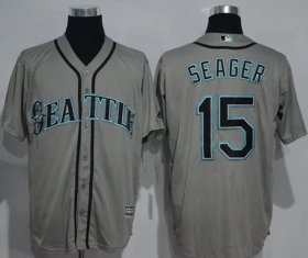 Wholesale Cheap Mariners #15 Kyle Seager Grey New Cool Base Stitched MLB Jersey