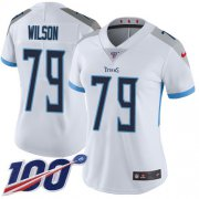 Wholesale Cheap Nike Titans #79 Isaiah Wilson White Women's Stitched NFL 100th Season Vapor Untouchable Limited Jersey