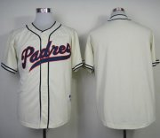 Wholesale Cheap Padres Blank Cream 1948 Turn Back The Clock Stitched MLB Jersey