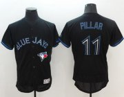 Wholesale Cheap Blue Jays #11 Kevin Pillar Black Fashion Flexbase Authentic Collection Stitched MLB Jersey