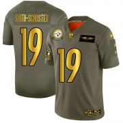 Wholesale Cheap Pittsburgh Steelers #19 JuJu Smith-Schuster NFL Men's Nike Olive Gold 2019 Salute to Service Limited Jersey