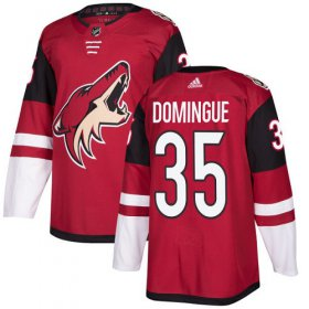 Wholesale Cheap Adidas Coyotes #35 Louis Domingue Maroon Home Authentic Stitched Youth NHL Jersey