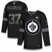Wholesale Cheap Adidas Jets #37 Connor Hellebuyck Black Authentic Classic Stitched NHL Jersey