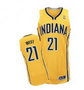 Wholesale Cheap Indiana Pacers #21 David West Yellow Swingman Jersey
