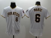 Wholesale Cheap Pirates #6 Starling Marte White Flexbase Authentic Collection Stitched MLB Jersey
