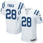 Wholesale Cheap Nike Colts #28 Marshall Faulk White Men's Stitched NFL Elite Jersey