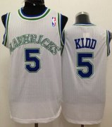 Wholesale Cheap Dallas Mavericks #5 Jason Kidd White Swingman Throwback Jersey