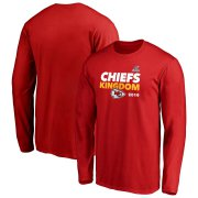 Wholesale Cheap Kansas City Chiefs 2019 NFL Playoffs Bound Hometown Checkdown Long Sleeve T-Shirt Red