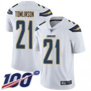 Wholesale Cheap Nike Chargers #21 LaDainian Tomlinson White Men's Stitched NFL 100th Season Vapor Limited Jersey