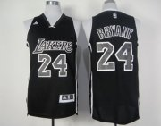 Wholesale Cheap Los Angeles Lakers #24 Kobe Bryant Revolution 30 Swingman All Black With White Jersey