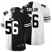 Cheap New York Giants #56 Lawrence Taylor Men's Black V White Peace Split Nike Vapor Untouchable Limited NFL Jersey