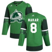 Wholesale Cheap Colorado Avalanche #8 Cale Makar Men's Adidas 2020 St. Patrick's Day Stitched NHL Jersey Green.jpg.jpg