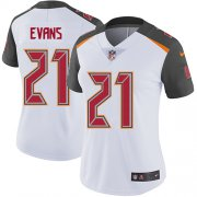 Wholesale Cheap Nike Buccaneers #21 Justin Evans White Women's Stitched NFL Vapor Untouchable Limited Jersey