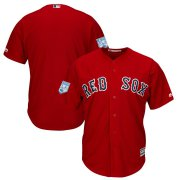 Wholesale Cheap Red Sox Blank Red 2019 Spring Training Cool Base Stitched MLB Jersey