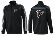 Wholesale Cheap NFL Atlanta Falcons Team Logo Jacket Black_3