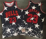 Wholesale Cheap Bulls #23 Michael Jordan Navy Throwback 1997 4th of July Stitched NBA Jersey