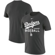 Wholesale Cheap Los Angeles Dodgers Nike Practice Performance T-Shirt Anthracite