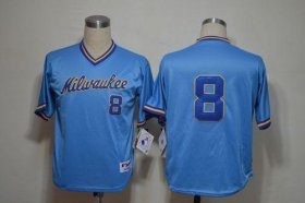 Wholesale Cheap Brewers #8 Ryan Braun Blue 1982 Turn Back The Clock Stitched MLB Jersey