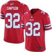 Wholesale Cheap Nike Bills #32 O. J. Simpson Red Men's Stitched NFL Elite Rush Jersey