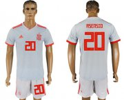 Wholesale Cheap Spain #20 Asensio Away Soccer Country Jersey