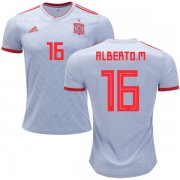 Wholesale Cheap Spain #16 Alberto M. Away Soccer Country Jersey