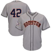 Wholesale Cheap Houston Astros #42 Majestic 2019 Jackie Robinson Day Official Cool Base Jersey Gray