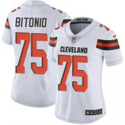 Wholesale Cheap Nike Browns #75 Joel Bitonio White Women's Stitched NFL Vapor Untouchable Limited Jersey