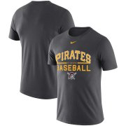 Wholesale Cheap Pittsburgh Pirates Nike Practice Performance T-Shirt Anthracite