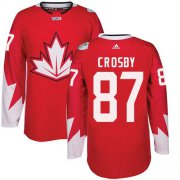 Wholesale Cheap Team Canada #87 Sidney Crosby Red 2016 World Cup Stitched Youth NHL Jersey