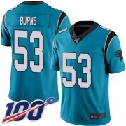 Wholesale Cheap Nike Panthers #53 Brian Burns Blue Men's Stitched NFL Limited Rush 100th Season Jersey