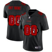 Wholesale Cheap San Francisco 49ers Custom Men's Nike Team Logo Dual Overlap Limited NFL Jersey Black