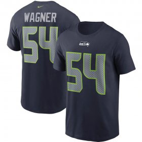 Wholesale Cheap Seattle Seahawks #54 Bobby Wagner Nike Team Player Name & Number T-Shirt College Navy