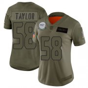 Wholesale Cheap Nike Seahawks #58 Darrell Taylor Camo Women's Stitched NFL Limited 2019 Salute To Service Jersey