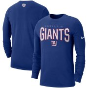 Wholesale Cheap New York Giants Nike Sideline Property Of Performance Long Sleeve T-Shirt Royal