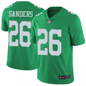 Wholesale Cheap Nike Eagles #26 Miles Sanders Green Men\'s Stitched NFL Limited Rush Jersey