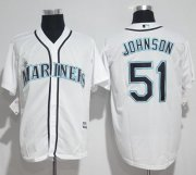 Wholesale Cheap Mariners #51 Randy Johnson White New Cool Base Stitched MLB Jersey