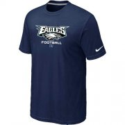 Wholesale Cheap Nike Philadelphia Eagles Critical Victory NFL T-Shirt Midnight Blue